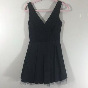 ASOS black lace mini dress poofy tulle